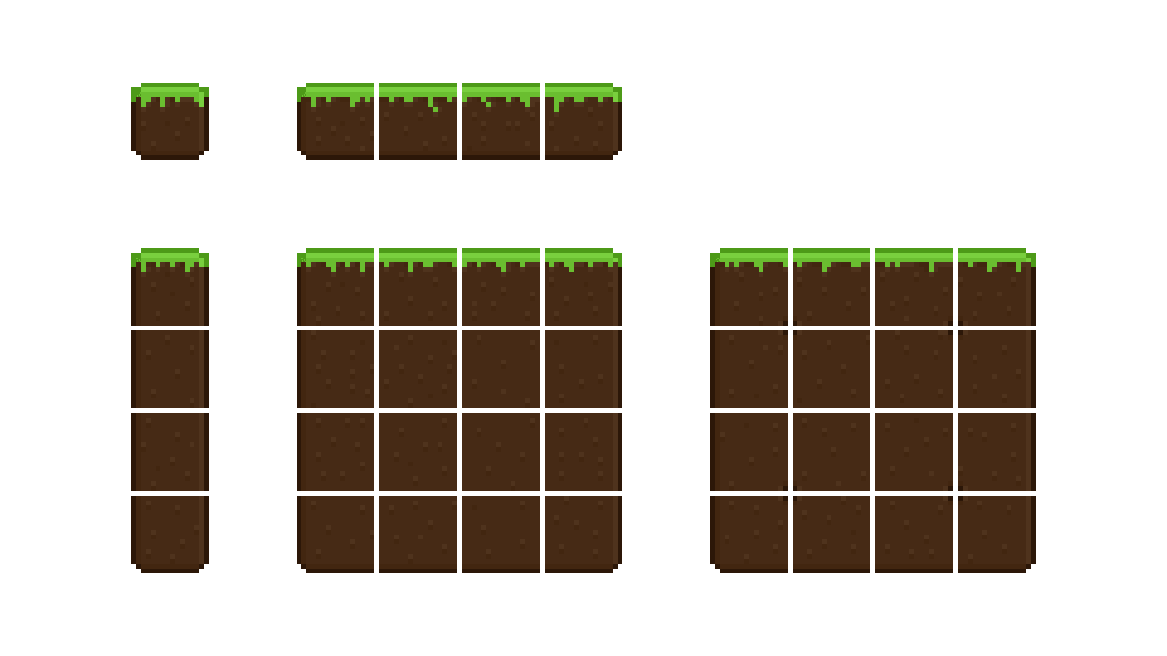 An example tileset created with the template.